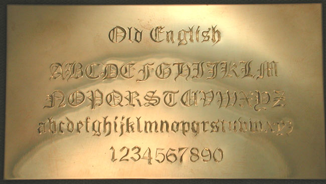 There Are Many More Script Styles Old English Lettering Style